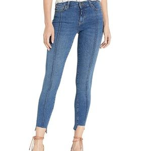 Free People Low Rise Pinktuck Jeans